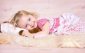 The girl on the floor