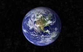 Синий мрамор, Земля