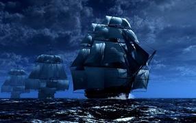 The sailing ships