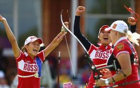 Ksenia Perova, Inna Stepenova and Kristina Timofeeva
