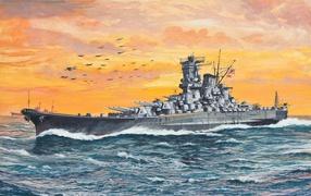 ships, sea, picture, technic, plane in the sky, Fleet