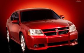 Red Dodge Avenger
