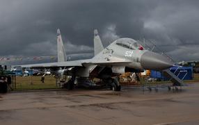Russian military airplane SU-30 MK