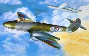 plane, F-1, picture, Sky
