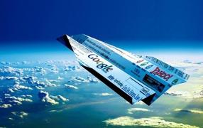 Бумажный самолет с Google