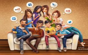 Рисунок на тему Социальные сети