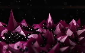 Розовые кристаллы
