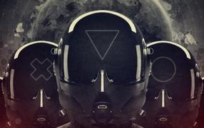 helmet, pilot, black and white, style
