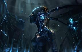 Фантастическая девушка робот
