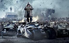 crowd, Smoke, movies, Batman, Bane, Cyberpunk
