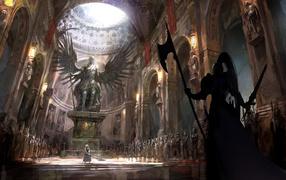 собор, Воин, меч, статуя