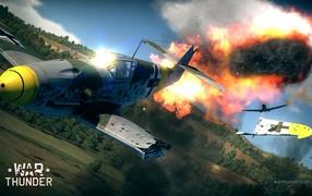 War Thunder Самолет рушится