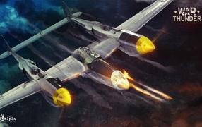 War Thunder огромный истребитель
