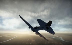 War Thunder истребитель патрулирует