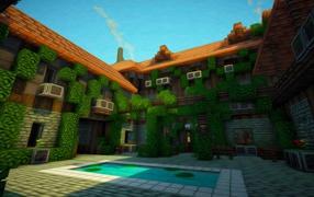 бассейн, Особняк, кондиционер, Minecraft, видео игры