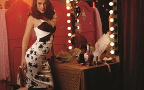 платье, зеркало, Актриса