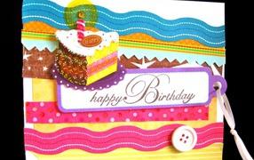 Оригинальная открытка на день рождения