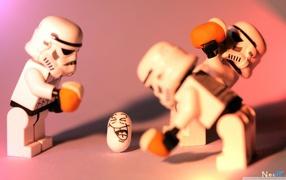 creative, Lego, construction, happy birthday, stormtroopers