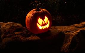 halloween, pumpkin, Night, shine