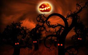 Хэллоуин лес