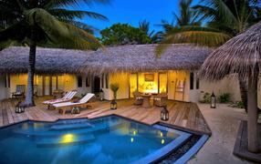Villa, Palma, pool, lamp, style, detached house