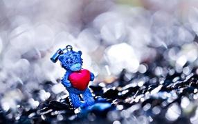 love struck, red heart, bear, Toys