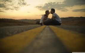 cute couple, kiss, a strong feeling, lovers
