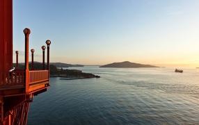 Острова на закате