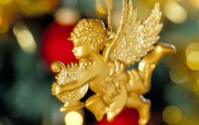 Елочные игрушки ангелы