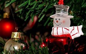 Christmas tree in at Pushkin Museum