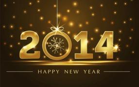 Golden new year 2014
