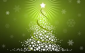 Green New year tree 2014