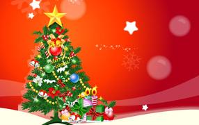 Happy new year New year tree
