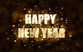 Happy new year, black background