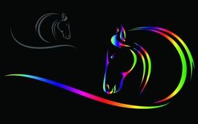 Новый год 2014 - год деревянной синей лошади