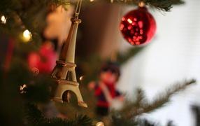 New year tree in paris