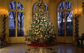 Новогодняя елка в президентском дворце