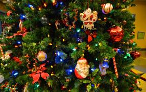 Новогодняя елка с Дедом Морозом