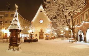 Новогодняя снежная сказка