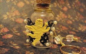 Cтеклянные елочные игрушки ручной работы