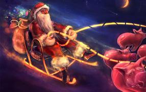 Дед мороз ночью