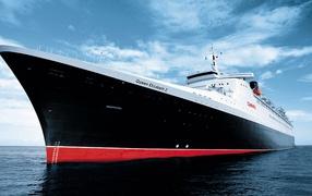 Queen Elizabeth II, ships, cruiser, sea, Sky, Fleet