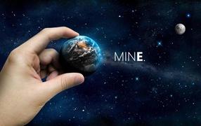 planet, stars, Hands