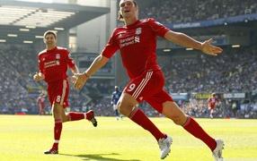 Andy Carroll, english footballer, Liverpool, emotions, forward