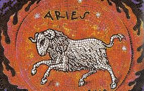 Aries, mosaic