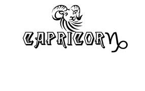 Capricorn on a white background