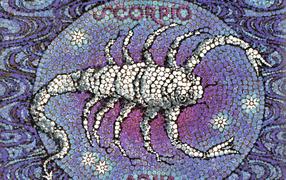 Скорпион, мозаика