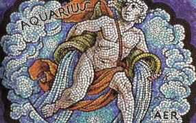 Aquarius, mosaic