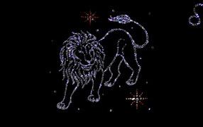 Lion of precious stones