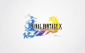 Заставка игры на белом фоне Final Fantasy xv